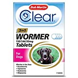Bob Martin Clear 3-in-1 Wormer Tablets for Dogs