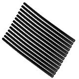 Runrain 13pcs Hot Melt bâton de colle adhésif Noir Haute 7mm pour DIY Craft Jouets Outil de réparation