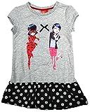 Miraculous Ladybug Vestido niña Oficial Polka Falda Túnica Sol tallas desde 4 To 8 años - Gris, 5 years