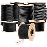 50m cuerda de polipropileno 3mm trenzado de color negro/negro