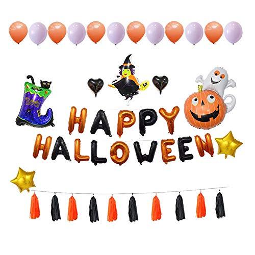 gaddrt Halloween Ballon-Set, Kürbis-Geist Stiefel Katze Ballon Stellen Sie Halloween-Partyzubehör Ein