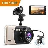"""Dashcam 4.0 """" Dash Camera Auto Tvird Auto Camera Recorder FHD 1080p Dashcamera Recorder mit 170° Weitwinkelobjektiv Parkmonitor/Bewegungserkennung/Loop-Aufnahme/G-Sensor"""
