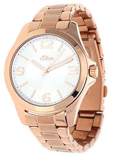 s.Oliver Damen-Armbanduhr Analog Quarz IP Rosé SO-15104-MQR