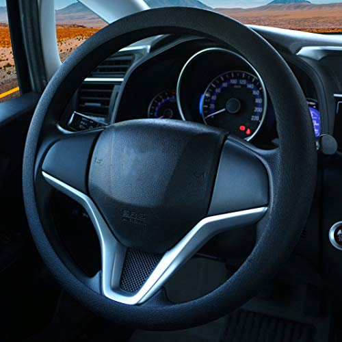 Coprivolante elegante in morbido silicone antiscivolo, decorazione per il volante dell