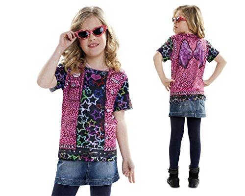 Disfraz Camiseta de Rapero Original de Carnaval para niña de 8-10 años de Microfibra - LOLAhome
