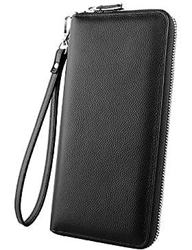 Luxspire RFID Carteras Largo Billeteras con Monederos para Hombre Mujer de Piel con Grande Capacidad, Diseño Bolsillo...