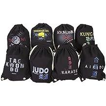 Bolsa de Tela Personalizada Deportes Negro. 45 x 36. aikido