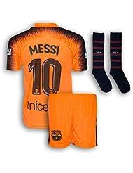 3ad15bf2f2d Messi Jersey Barcelona Orange  10 Soccer Jersey   Shorts   Socks - Youth  Football Kits