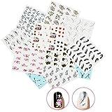 Nicedeco Lot de 15 pcs water decal pour les ongles Nail Art Stricker Pattern Mélangés Autocollant à Ongles Type 1