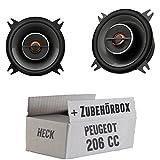 Peugeot 206 CC Heck - JBL GX402 | 2-Wege | 10cm Koax Lautsprecher - Einbauset