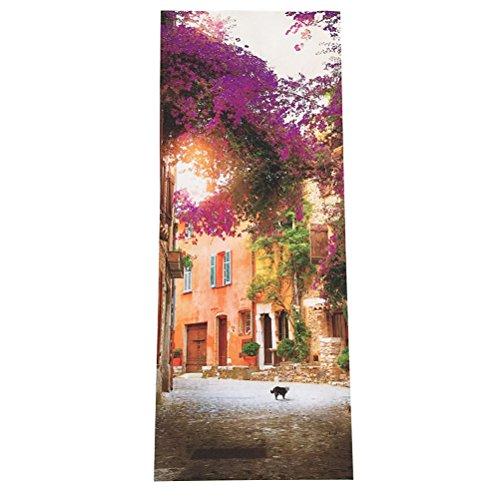 GWELL Sticker Trompe l/œil Stickers de Porte 3D Effet D/écoration Paysage Plage Mer 77 x 200 cm
