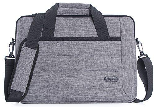 ProCase 13-13.5 Zoll Aktenkoffer Messenger Bag mit Schultergurt und Griff für Laptop Ultrabook MacBook Pro Air Chromebook Notebook Computer Acer ASUS Dell HP Lenovo Samsung Sony Toshiba -Grau