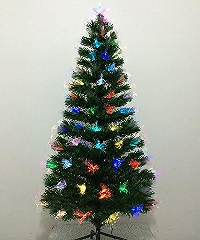 HiMqhy Farbenfroh leuchtenden Weihnachtsbaum rein optische Faser Baum Weihnachten wiedervereinigten Haushalt Ornament grossen Weihnachtsbaum, Höhe 240 CM