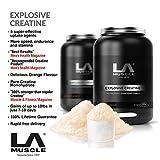 LA Muscle Explosive Creatine, seit 1998 300% stärker als normale Creatine von Muscle & Fitness Magazine, Bestseller, bewertet 5 Aufnahme Mittel, köstlich Instant Super-Ergänzung Mischen Gewinne von in nur 7-10 Tage zu 10kg up garantiert,