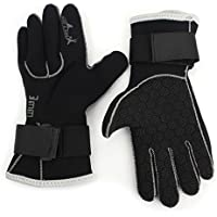 Diving Gloves - Dive&Sail 3mm Neoprene Scuba Diving Surfing Spearfishing Surfing Cold Water Sports Gloves L by SAIL & DIVE