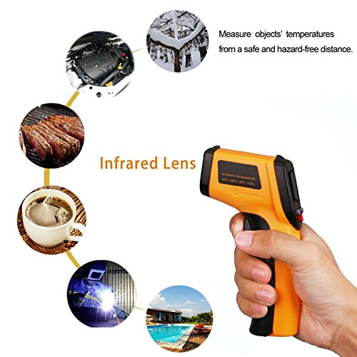 Laser medidor Alemania–Infrarrojos Termómetro/pirómetro Pistola/Digital con puntero láser para kontaktfreies Medir la temperatura