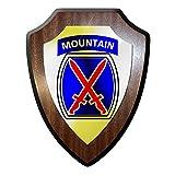 Wappenschild / Wandschild -10th Mountain Division SSI 10 US Gebirgsdivision Gebirgsjäger Abzeichen#9682