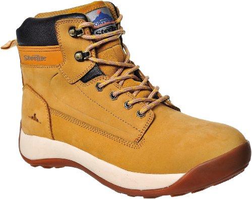 Steelite Constructo - Stivali di sicurezza, con protezione sulla punta, impermeabili, in pelle nabuk Miele