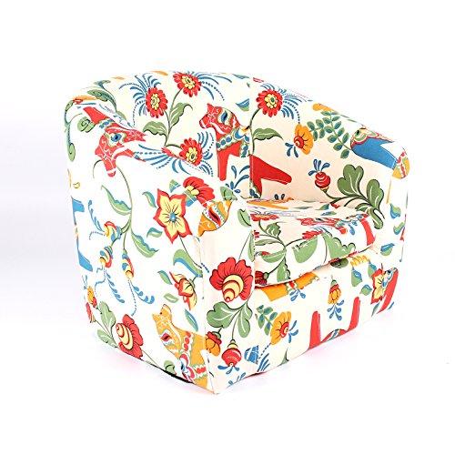 Emall Life Kid's Luxury Armchair Children's Tub Chair Cartoon Sofa Wooden Frame (Bloom)