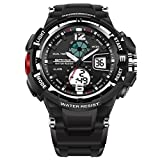 Generic SANDA 289 Fashion LED Dual Display Men Watch 30M Waterproof Sport Digital Watch
