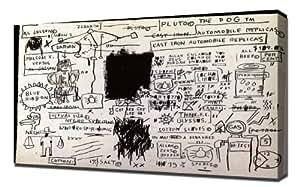 Jean Michel Basquiat - Replicas - Reproduction d'art - Taille Du Cadre 30cm x 40cm - Image Sur Toile