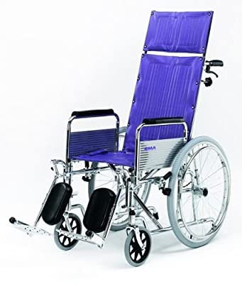 High Back Self Propel Propelled Wheelchair with Fully Reclining Back