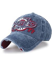 ililily Washed Cotton Jambo Vintage Trucker Hat Casual Baseball Cap