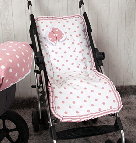 Babyline Carrusel - Colchoneta ligera para silla de paseo, color rosa