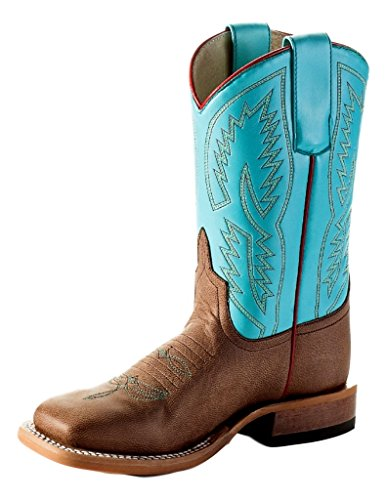 Anderson Bean Western Boots Girls Kids Piping Tabs Bone MAD Dog K7902