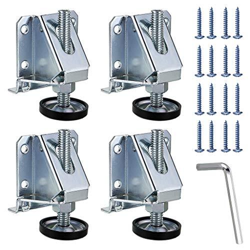 Sumnacon Schwerlast-Möbel-Nivellierfüße für Tische, Regale, Schränke, Werkbank mit Sicherungsmuttern