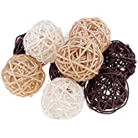 Baoblaze Bolas de Mimbre lnicio Boda de Navidad Artesanías Decorativas - 10pcs 5cm