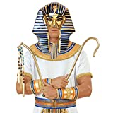 Pharao Maske Pharaomaske gold-blau Ägyptische Maske Pharaonenmaske Karneval Masken Ägypter Kostüm Zubehör