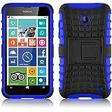 Lumia 630 Hülle, JAMMYLIZARD [ ALLIGATOR ] Doppelschutz Outdoor-Hülle für Nokia Lumia 630, BLAU