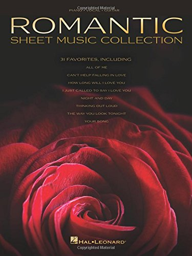 Romantic sheet music collection piano, voix, guitare
