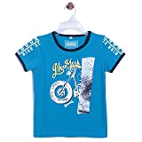 Chimprala Boys Cotton Half Sleeves Round Neck Blue Printed t shirts for boys