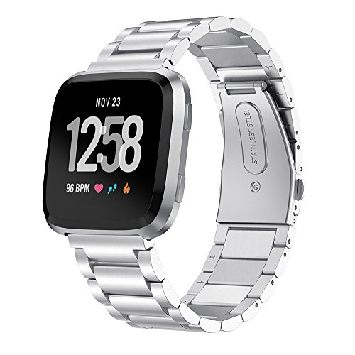 Pinhen cinturino versa fascia in acciaio di ricambio per Fitbit versa metal Wristbands for Fitbit versa orologio