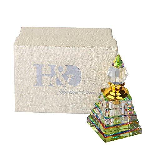H & D Vintage nachfüllbar kurz Spray K9Kristall Glas Flasche für Frauen Mädchen Geschenk