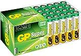 Batterien Micro AAA LR03 Vorratspack 40 Stück GP Batteries Super Alkaline (03024AB40) inklusive praktischer PET Aufbewahrungsbox