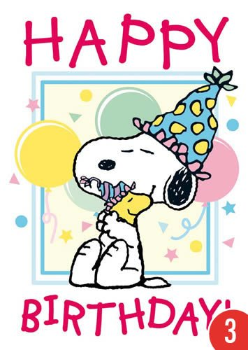 A6 +++ SNOOPY/PEANUTS von modern times +++ HAPPY BIRTHDAY - SNOOPY AND WOODSTOCK +++ CLOSE UP UNITED FEATURE SYNDICATE, INC ()