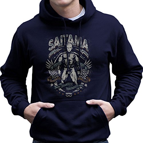 Saitama Hero For Fun One Punch Man Men's Hooded Sweatshirt