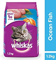 Whiskas Adult (+1 year) Dry Cat Food, Ocean Fish Flavour, 1.2kg Pack