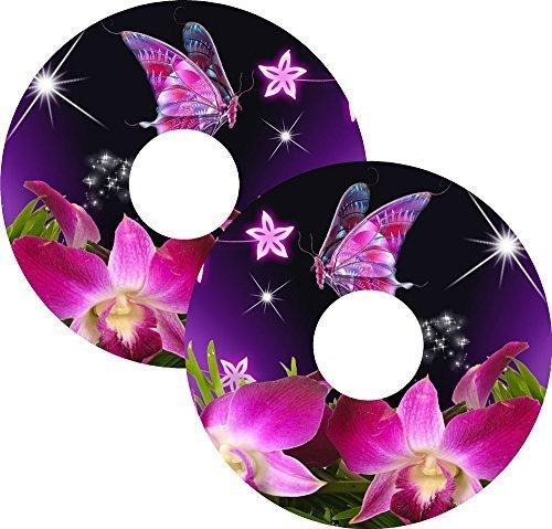 Rollstuhl Speichen Schutz Protektor Skins Schmetterling Design 20