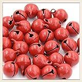 30 Pcs 10 mm Mini Red Craft Jingle Bells for Christmas Decoration Jewellery Making Small Craft Bells