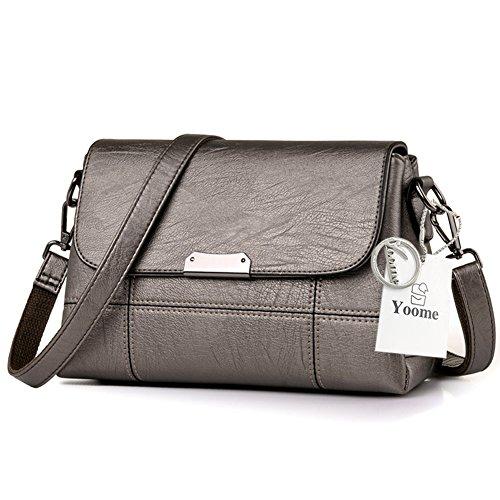 Sacchetti di borsa della borsa multifunzione molle di grande capacità Yoome Sacchetti dellannata del sacchetto di tasca per ladolescenza Sacchetto del messaggero delle donne - D.Grey Champagne