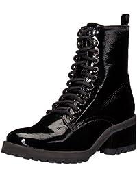 Steve Madden Women's Geneva Combat Boot Black Leather 5.5 B(M) US