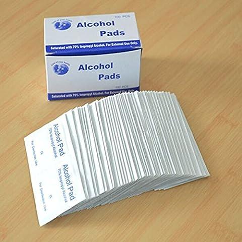 MASUNN 100Pcs Antiphlogosis Isopropyl Alkohol Tupfer Pads Stück Wischen Antiseptische Haut Reinigung Pflege
