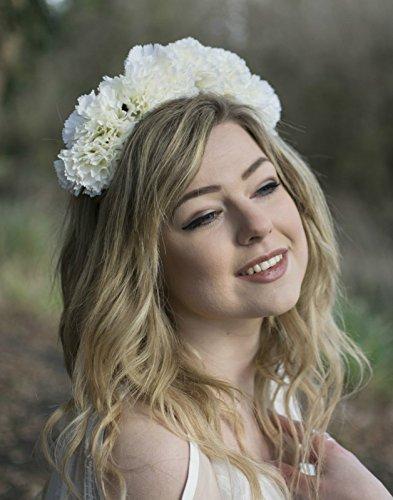 Oeillet Blanc sur fond cheveux fleur couronne bandeau Guirlande Festival coiffe Grand V61 * * * * * * * * exclusivement vendu par – Beauté * * * * * * * *