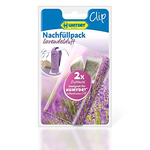 HUMYDRY Clip 2 spare parts Lavender air freshener for Closet, Purple, 11.2 x 18 cm, 2 Units