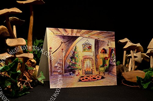 mrs-moles-christmas-cottage-mushroom-town-greeting-card