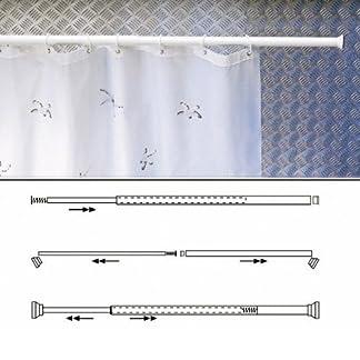 Maurer 4042204 Barra para Cortina Ducha Extensible Aluminio Blanco 70 a 125 cm